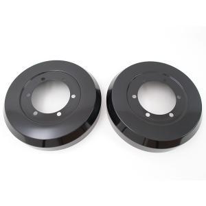 リムコーポレーション 200系 ハイエース 2/4WD用 Rim -ドラムカバー2枚【ブラックアルマイト仕上】 リア用|rim|02