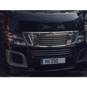 リムコーポレーション NV350キャラバン 2/4WD用標準ボディ フロントグリル・サイドカーニッシュ・バンパービレットモール  3点KIT|rim|02
