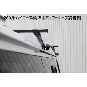 NV350キャラバン2/4WDワイドボディハイルーフ専用 ベースキャリアバー【角タイプ2本SET】専用脚付属 代引注文不可|rim|02