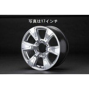 リムコーポレーション 200系 ハイエース 2/4WD用R-ROCK ハイパーシルバー アルミホイール 16x6.5J+38/6H/139.7|rim