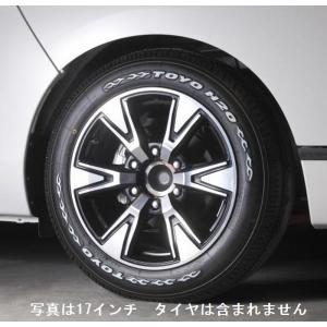 リムコーポレーション 200系 ハイエース 2/4WD用R-ROCK マッドブラックポリッシュ アルミホイール 15x6.0J+33/6H/139.7|rim