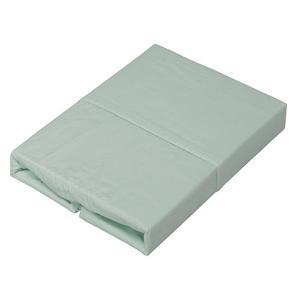 《綿100%の優しい肌触り。全周にゴム付きでずれにくい》アイリスオーヤマ ボックスシーツシングルCM...