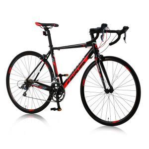 《長距離ツーリングまでこなせるピュアロードレーサー》CANOVER 700x23C 16段変速ロードバイクCAR-011ZENOSフレームサイズ 490mm(25576)レッド/ブラック|rimocon-land|02