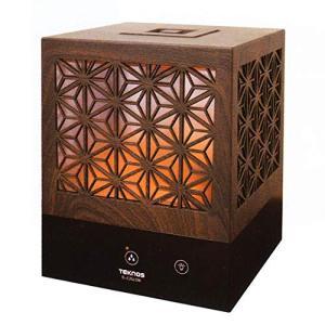 《組子調て_行灯のようなほのかな明かりを演出》TEKNOS 超音波加湿器組子デザインEL-C35L(...