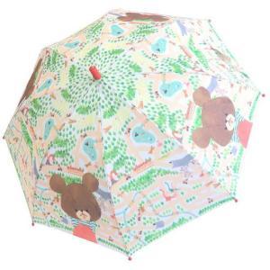 傘 くまのがっこう  50cm 子供 キッズ 手開き 雨 メール便不可 かさ カサ 迷路 rinasora