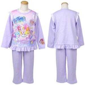 スタートゥインクルプリキュア 子供パジャマ 光る 長袖 100cm 110cm 120cm 130cm プリキュア パジャマ|rinasora|06