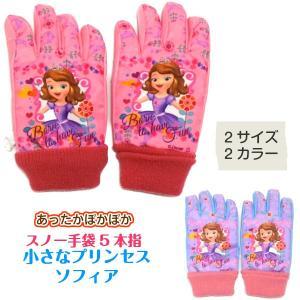 手袋 ソフィア ディズニー スキーグローブ スキー手袋 5本指 子供 キッズ あすつく|rinasora