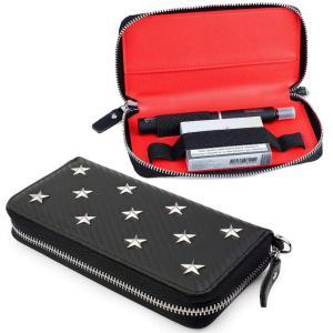 Leader プルームテックプラス専用ケース ploomtech+一本収納 星リベット飾り大型 財布...
