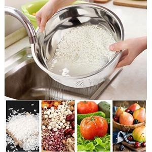 Joyoldelf 水切り ボウル ステンレス 米とぎ ザル 野菜 果物洗い|rinco-shop