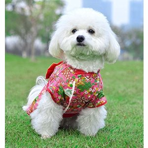 Awesomes 犬服 秋 冬 防寒コート 着物 和服 優雅 かわいい お正月 お祭り 結婚式 パーティー (S)|rinco-shop
