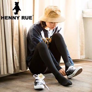 HENNYRUE 裏起毛タイツ 着圧 発熱加工 美脚効果 360D相当 1-12℃ 秋冬 レディース ブラック M|rinco-shop
