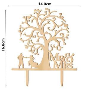 Kalevel 51pcs 木材チップ ハート形木のスライス ケーキトッパー ウェディング 結婚式 飾り付け ケーキデコレーショングッズ 木製タグ 装|rinco-shop