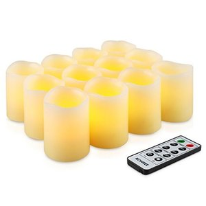 Kohree 本物の蝋で LEDキャンドルライト リモコン付き 無火炎タイマー機能 電池式 (12)|rinco-shop
