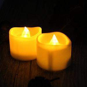 【電池付き】 LED キャンドルライト 24個セット 雰囲気 癒し ロウソク 蝋燭 ゆらぎ ティーライトキャンドル クリスマス/パーティー/結婚式/誕|rinco-shop