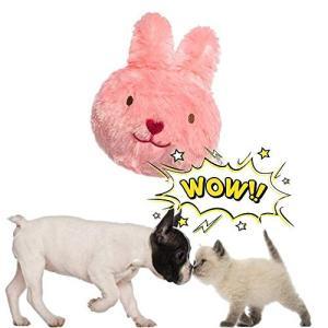Pawsfun犬おもちゃ 電動おもちゃ 自動 音が鳴る スクィーカー入り 発声装置搭載 犬噛む ぬいぐるみ二個付き ジャンプ かわいい犬用おもちゃ 丈|rinco-shop