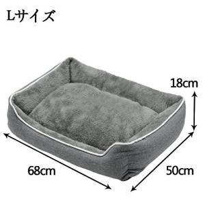 犬用 猫用 ペット ベッド スクエアベッド グレー  WARMPETHO(L)|rinco-shop