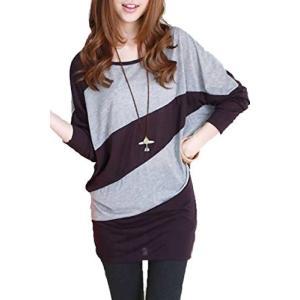 【 スマイズ スマイル 】 Smaids×Smile きれいめ かわいい バイカラー 長袖 トップス レディース 大人 女性用 大きい サイズ 春服|rinco-shop