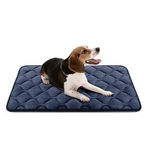 Hero Dog ペットマット 犬 ペットベッド 冬 クッション 犬 ケージ用敷物 防寒 滑り止め 洗える 肌触りのよいフランネル使用 柔らかい 眠り|rinco-shop