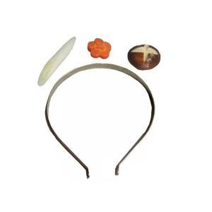 日本職人が作る  食品サンプル カチューシャ 鍋野菜セット(ネギ・花人参・しいたけ) IP-397|rindr