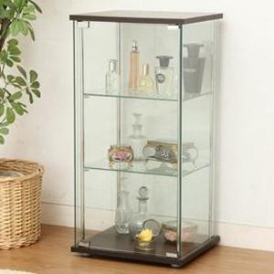 予約商品 ガラスコレクションケース3段 BR ブラウン TMG-G02 96049 rindr