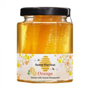 Sweet Harvest(スイートハーベスト) オレンジはちみつ巣入り 250g×12個セット|rindr
