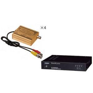 防犯カメラ周辺機器 ワンケーブルユニット SC-VTP-0601 SC-VRP0604 店舗プランニング 4CH映像伝送装置SC-VCP0604 ring-g