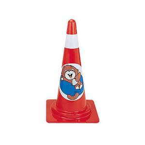 交通安全用品 カラーコーン デザインスコッチコーン ラッコ 赤 ring-g