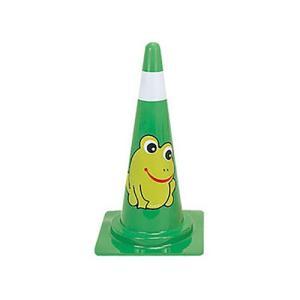 交通安全用品 カラーコーン デザインスコッチコーン カエル 緑 ring-g
