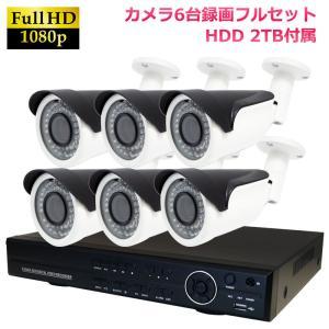 返金保証 監視カメラ 暗視対応 屋外 防水 DVR H.264 AHD200万画素 赤外線カメラ+8CH録画機  防犯カメラセット 6台セット|ring-g