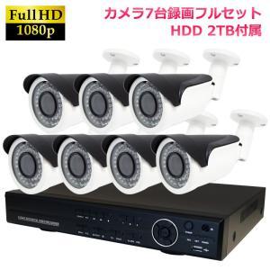 返金保証 監視カメラ 暗視対応 屋外 防水 DVR H.264 AHD200万画素 赤外線カメラ+8CH録画機  防犯カメラセット 7台セット|ring-g