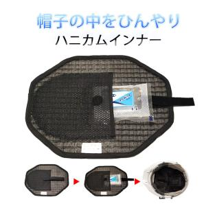 安全保護具 ヘルメット 帽子 通気性ネット ファルコン 熱中症 暑さ ハニカムインナー 保冷剤入れ付き