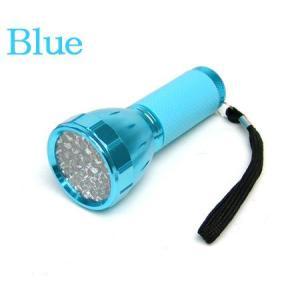 明るく 長寿命 32個搭載 32LEDコンパクトフラッシュライト ブルー|ring-g