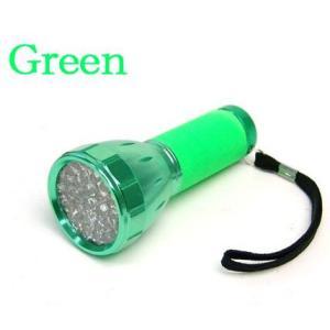 明るく 長寿命 32個搭載 32LEDコンパクトフラッシュライト グリーン|ring-g