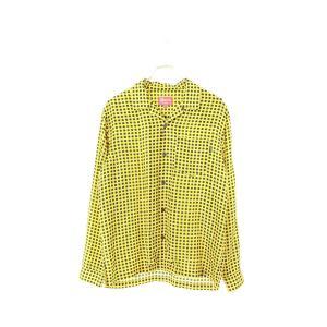 シュプリーム SUPREME 16AW Cane Silk Shirt 総柄シルクオープンカラー長袖...
