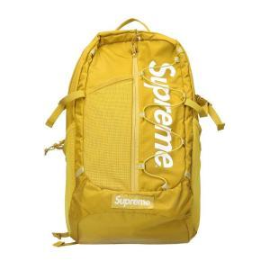 シュプリーム SUPREME 17SS Backpack ボックスロゴナイロンバックパック イエロー...