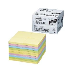 6544-K  【商品名】 スリーエムジャパン ポストイット ノート 業務用パック 4色混色 654...
