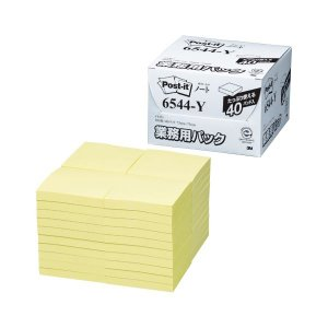 6544-Y  【商品名】 スリーエムジャパン ポストイット ノート 業務用パック イエロー 654...