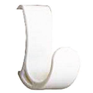 【商品名】 コートハンガーレール 専用フック 【ホワイト×10セット】 耐荷重5kg 強化ナイロン製...