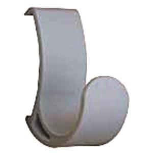 【商品名】 コートハンガーレール 専用フック 【グレー×10セット】 耐荷重5kg 強化ナイロン製 ...