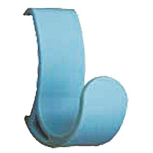 【商品名】 コートハンガーレール 専用フック 【ブルー×10セット】 耐荷重5kg 強化ナイロン製 ...