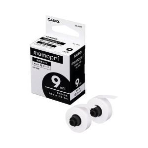 XA-9WE  【商品名】 (まとめ)カシオ メモプリンター メモプリ付箋テープ 9mm幅×5m ホ...