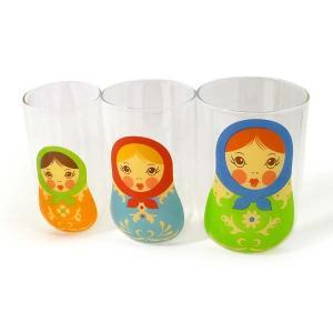 Fred 【フレッド】 BABUSH KUPS マトリョーシカ グラス 3Pセット rinkydink
