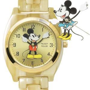 【レビュー特典】Disney [ミッキーマウス][ミニーマウス]アイボリー アセテート ウォッチ|rinkydink