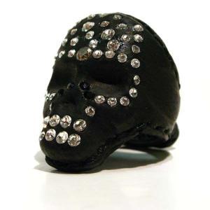 【ZD】 Skull Diamond 革リング|rinkydink