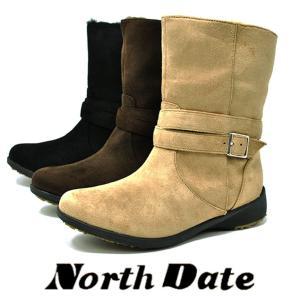 冬のアイスバーンに効くノースデイトのスノーブーツです!  中は暖かい防寒仕様です。吸湿発熱素材「ほっ...