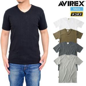 アヴィレックス AVIREX デイリー 半袖VネックTシャツ 全4色  6143501 DAILY S/S V-NECK T-SHIRT [M便 1/1]|ripe