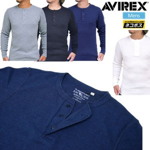 アヴィレックス Tシャツ デイリー 長袖 サーマル ヘンリーネック 全4色  6153516 AVIREX DAILY L/S THERMAL HENLY NECK TEE|ripe