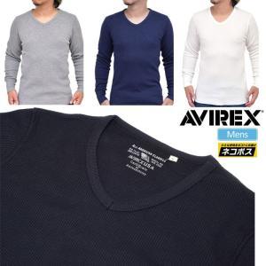 アヴィレックス Tシャツ デイリー 長袖 サーマル Vネック 全4色  6153515 AVIREX DAILY L/S THERMAL V-NECK TEE|ripe