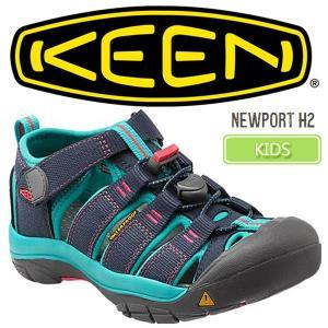 キーン KEEN ニューポート サンダル ミッドナイトネイビー/バルティック NEWPORT H2  1012296 キッズ 子供用|ripe