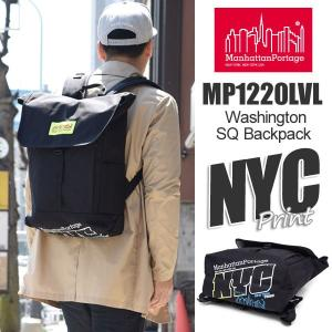 マンハッタンポーテージ Manhattan Portage NYCプリント ワシントンスクエアバックパック PVC  ブラック/レッド Washington SQ Backpack|ripe